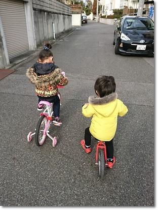 自転車で町内グルグル♪