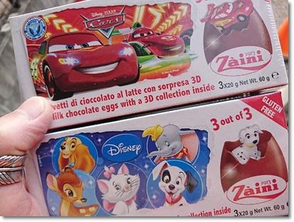 ディズニーの動物キャラクターとカーズのチョコエッグ♪