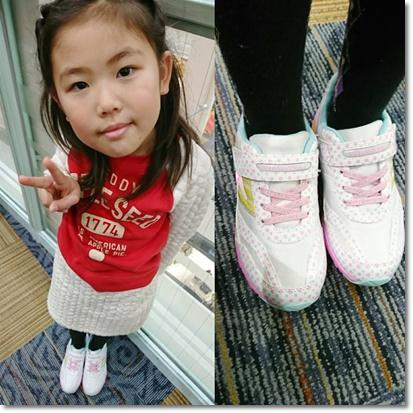 新しい通学用の靴^^