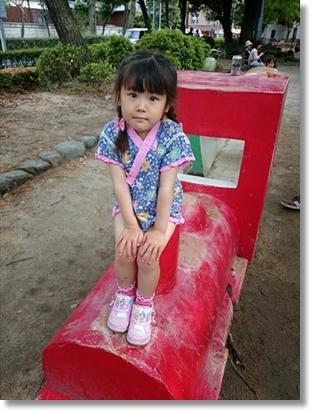 ボクも子供のころに遊んだ中村公園にて♪ この赤い汽車。ボクが子供の頃からあるやつ(^^v