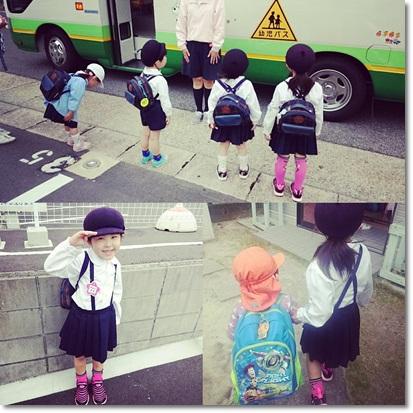 ぱんだへ行くユラと幼稚園へ行くカブ子♪
