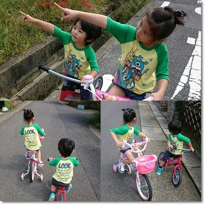 自転車の練習?^^;