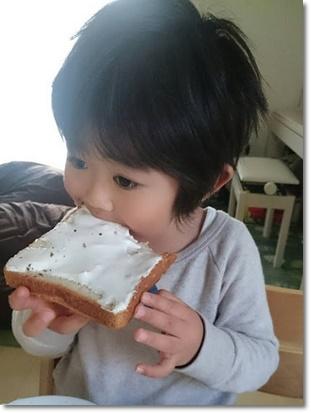 マシュマロトーストぱくぱく♪