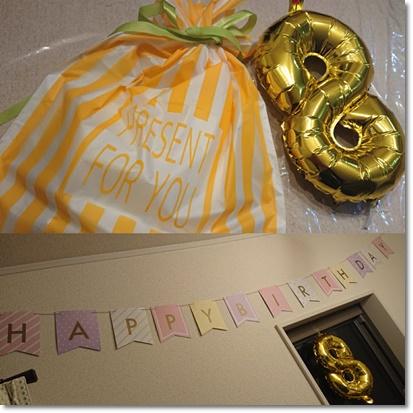 カブ子8歳の誕生日♪